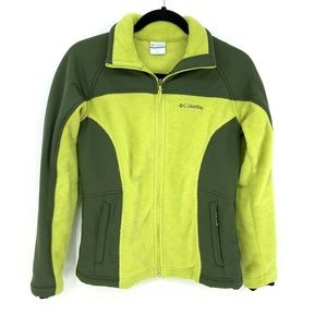 Columbia Olive Green Full Zip Fleece Jacket